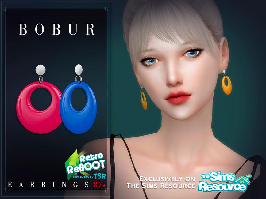 Серьги Bobur Retro ReBOOT Earrings 80s Симс 4