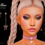 Серьги Bow Earrings Симс 4