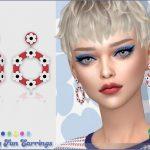 Серьги Daisy Fun Earrings Симс 4
