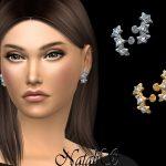 Серьги Triple Diamond Stars Earrings Симс 4