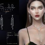 Серьги ts4 LL EARRINGS 2021029 Симс 4