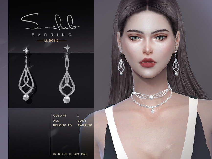 Серьги ts4 LL EARRINGS 202110 Симс 4