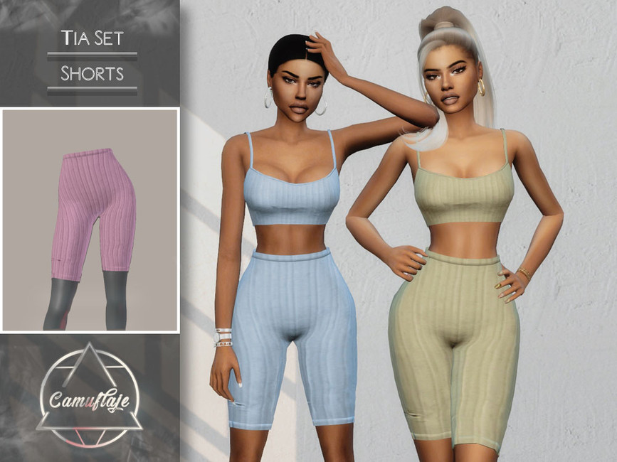 Шорты Tia Set (Shorts) Симс 4