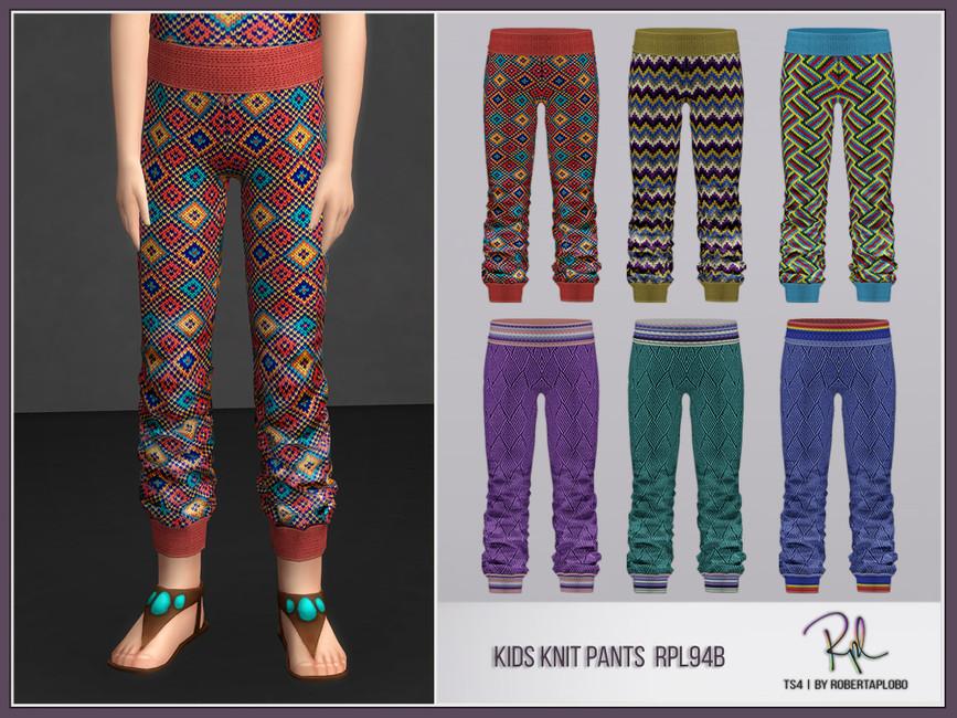 Штаны для детей Kids Pants RPL94B Симс 4