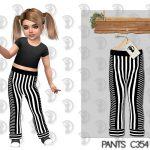 Штаны для девочек Pants C354 Симс 4