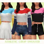 Свитер Athletic Crop Sweater Симс 4