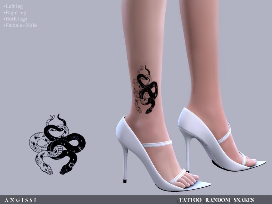 Татуировка на щиколотке Симс 4