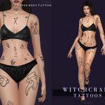 Татуировки на все тело Симс 4