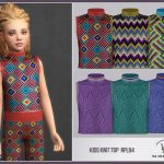 Топ для детей Kids Knit Top RPL94 Симс 4