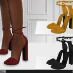 Туфли на каблуке Симс 4