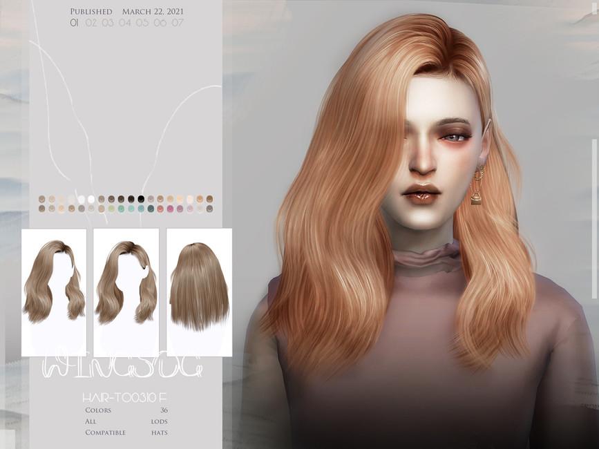 Волосы средней длины Симс 4