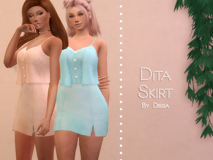 Юбка Dita Skirt Симс 4