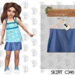 Юбка для детей Skirt C346 Симс 4