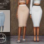 Юбки MESHKI II SET (Skirt) Симс 4