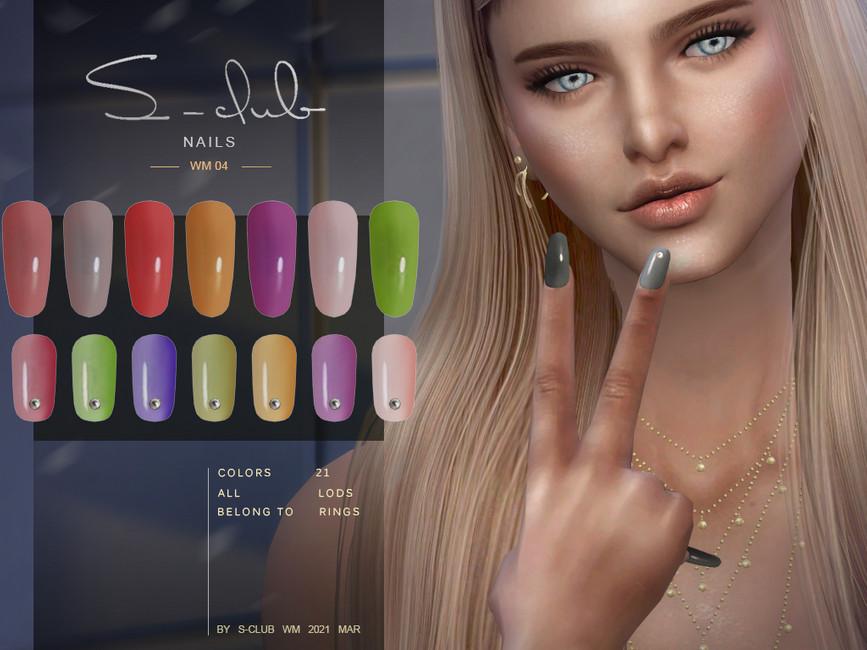 Женские ногти для Симс 4