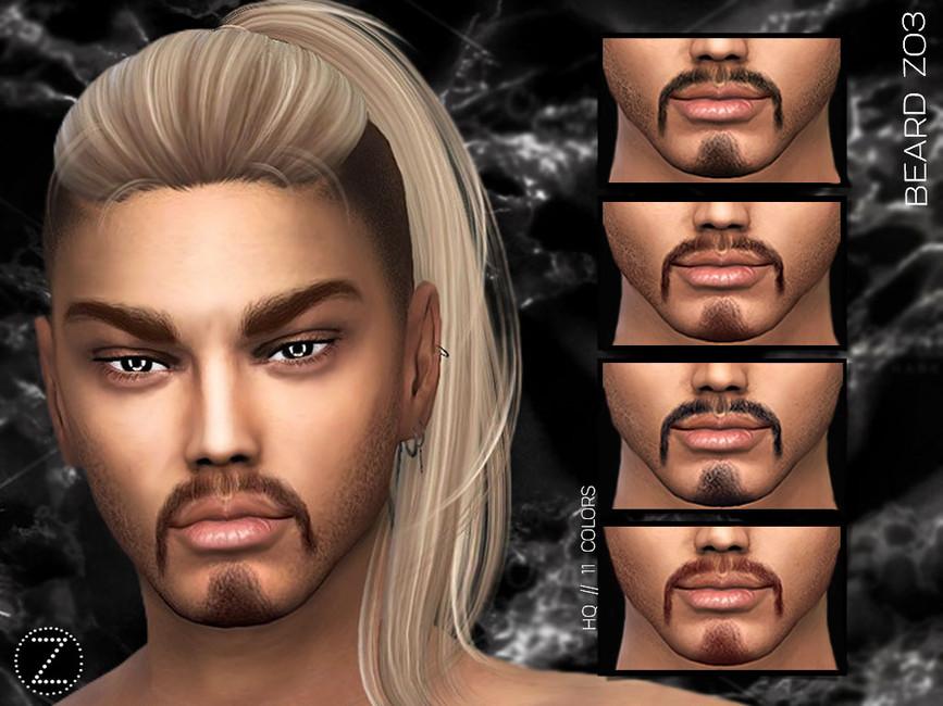 Борода и усы BEARD Z03 Симс 4
