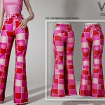 Брюки Colorblock Outfit (PANTS) P40 Симс 4