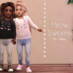 Детские свитера Симс 4
