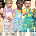 Детский комбинезон Easter Overall Симс 4