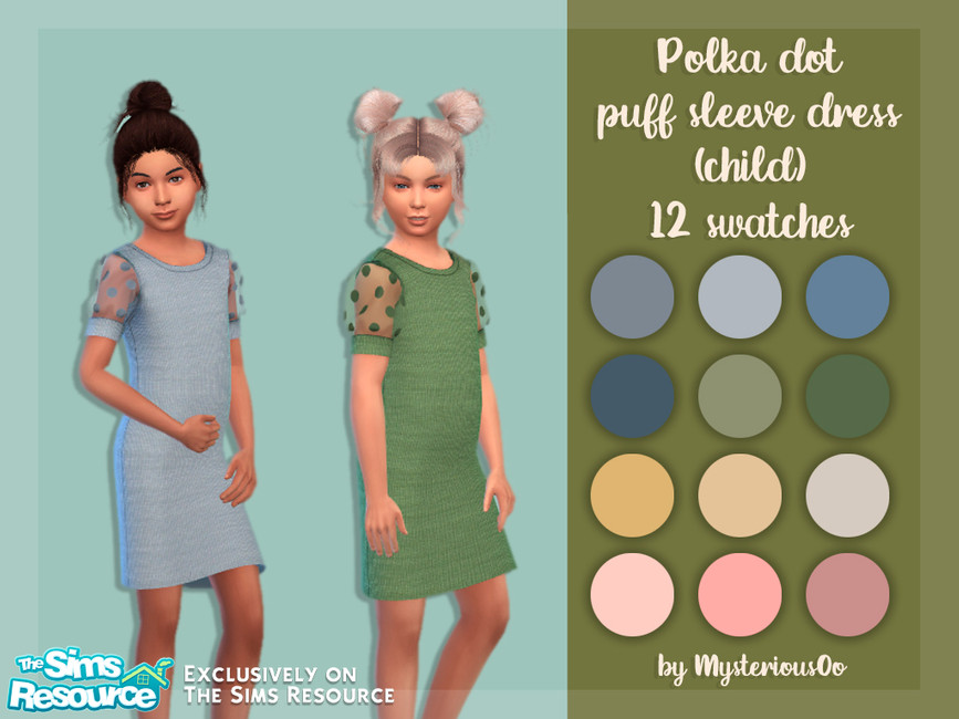 Детское платье для Симс 4
