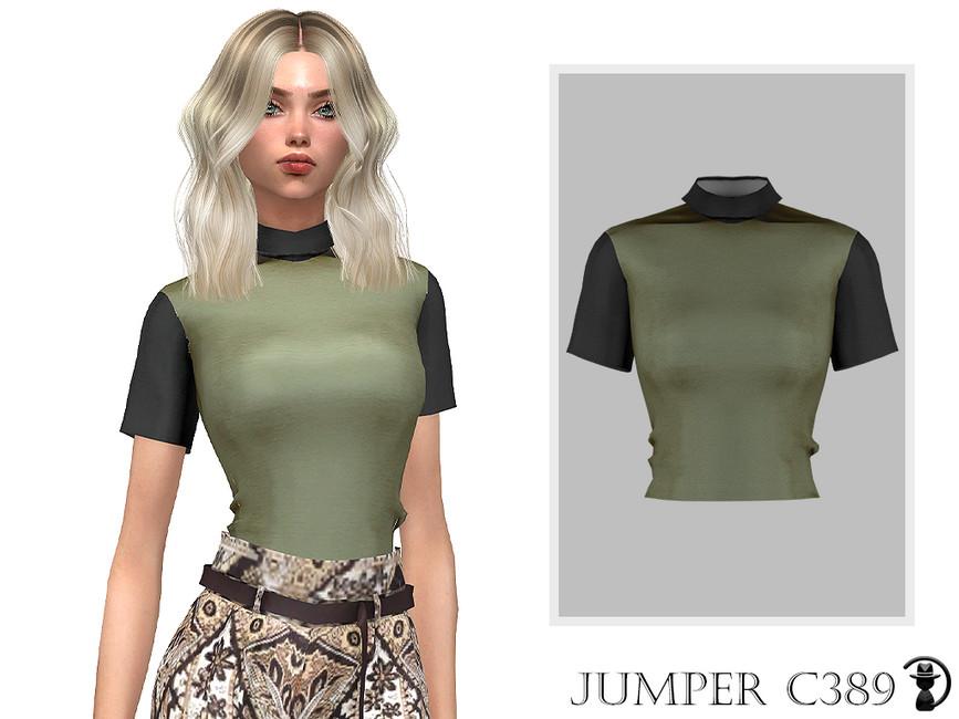 Джемпер Jumper C389 Симс 4