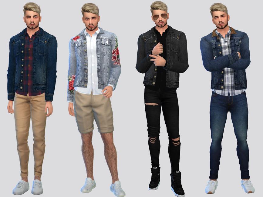 Джинсовые куртки для Симс 4