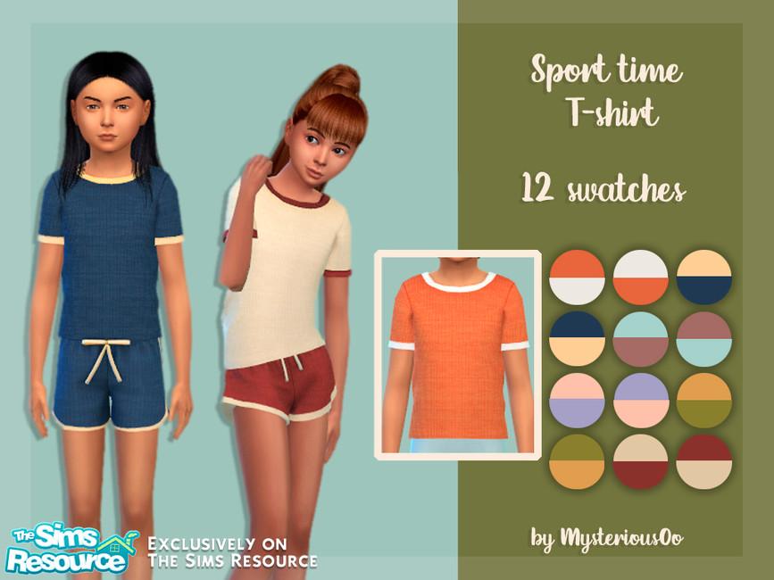 Футболка для детей Sport time T-shirt Симс 4