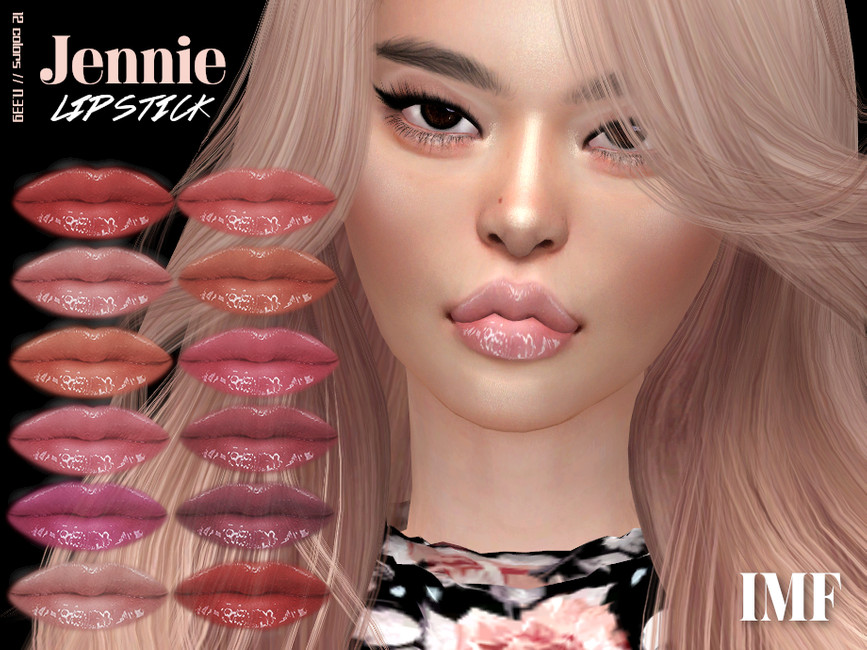 Губная помада IMF Jennie Lipstick N339 Симс 4