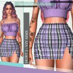 Короткая юбка для Симс 4