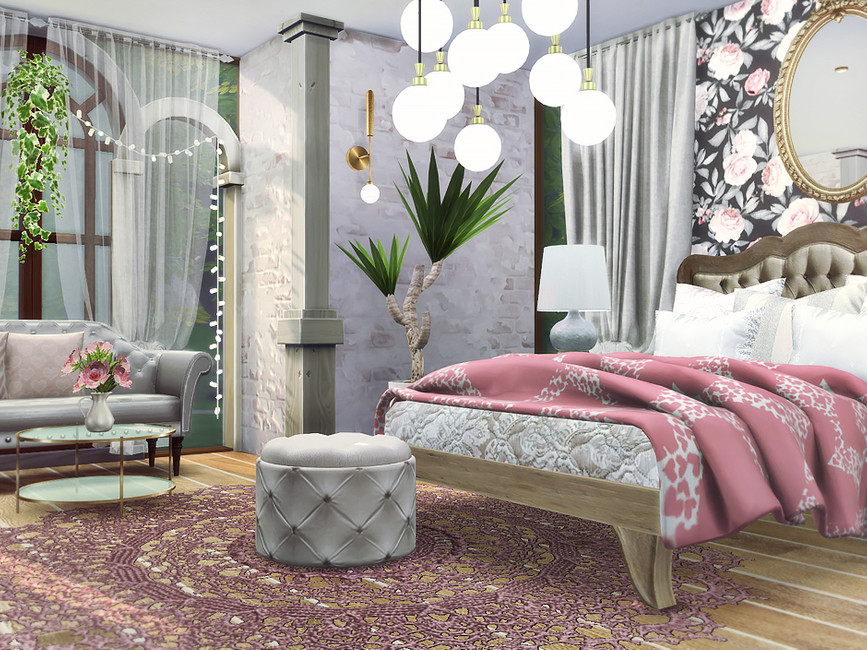Красивая спальня Симс 4 (картинка 2)