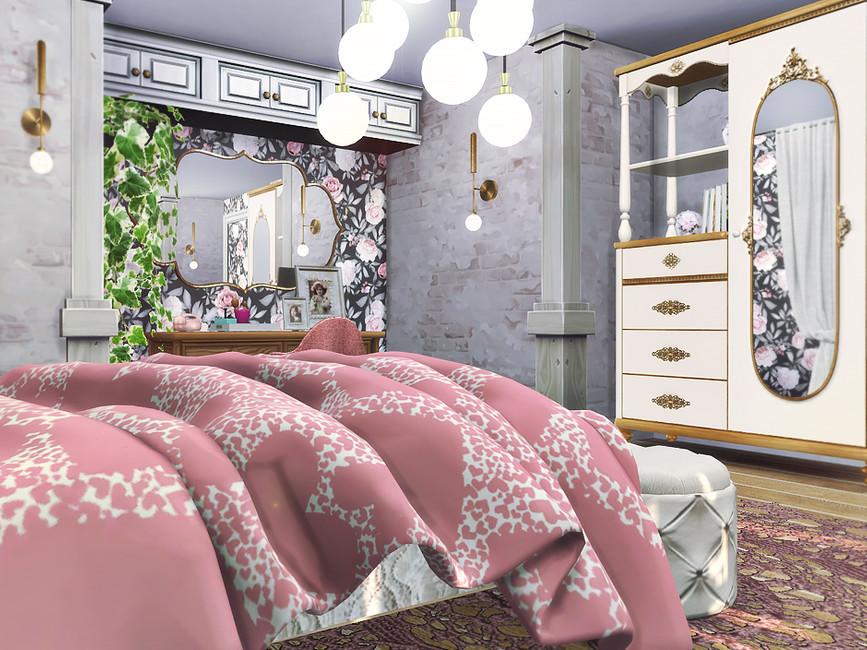 Красивая спальня Симс 4 (картинка 5)