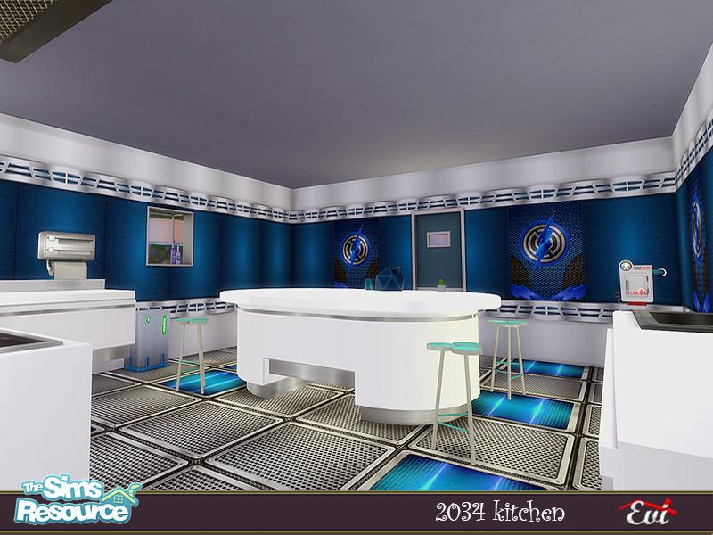 Кухня 2034 Kitchen Симс 4 (картинка 2)