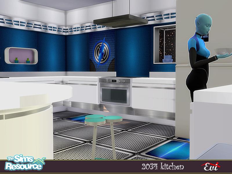 Кухня 2034 Kitchen Симс 4 (картинка 3)