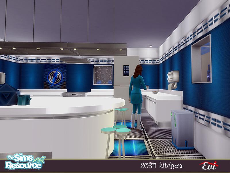Кухня 2034 Kitchen Симс 4 (картинка 4)