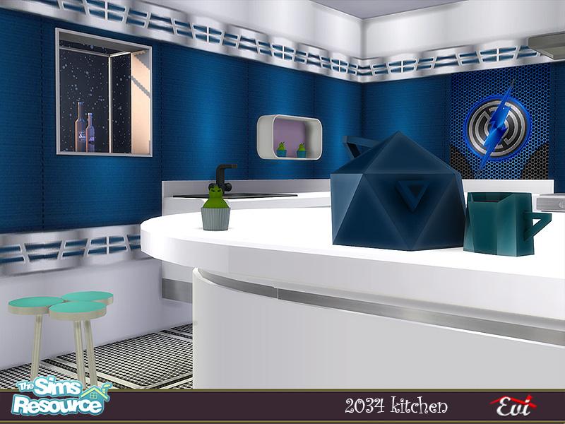 Кухня 2034 Kitchen Симс 4 (картинка 5)