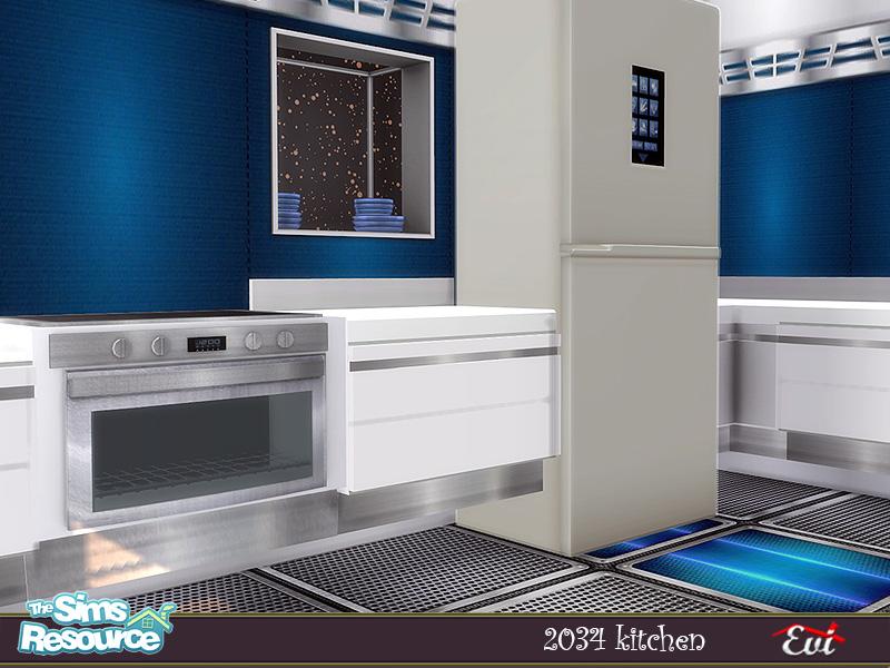 Кухня 2034 Kitchen Симс 4 (картинка 6)