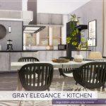 Кухня Gray Elegance - Kitchen Симс 4