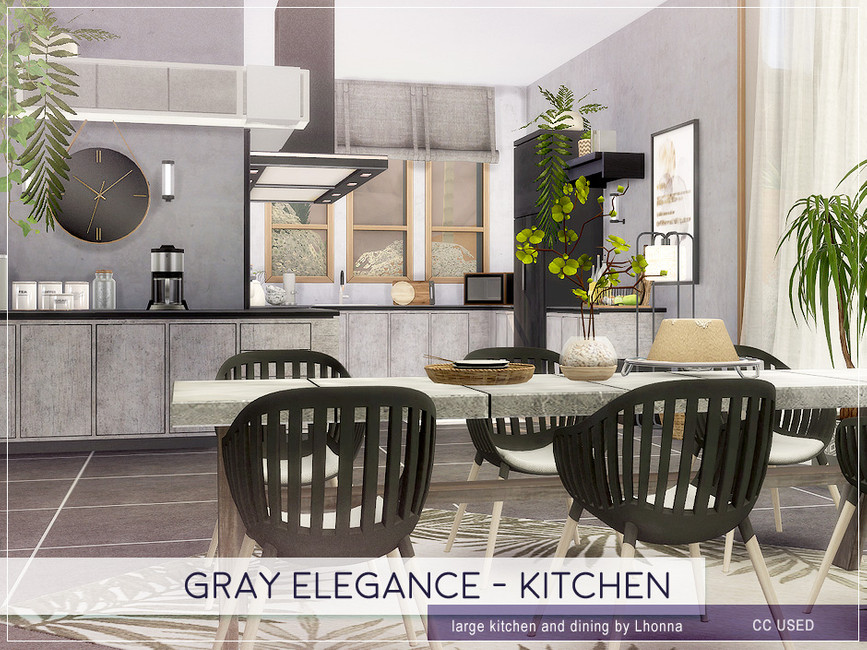 Кухня Gray Elegance - Kitchen Симс 4