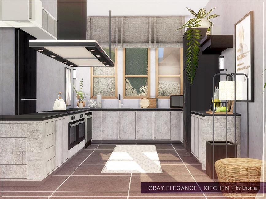 Кухня Gray Elegance - Kitchen Симс 4 (картинка 2)