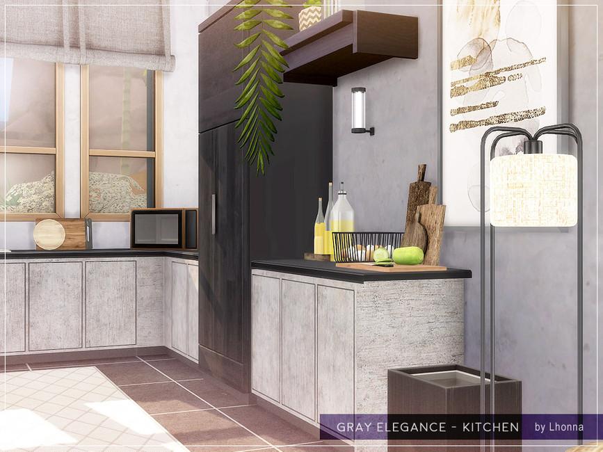 Кухня Gray Elegance - Kitchen Симс 4 (картинка 3)