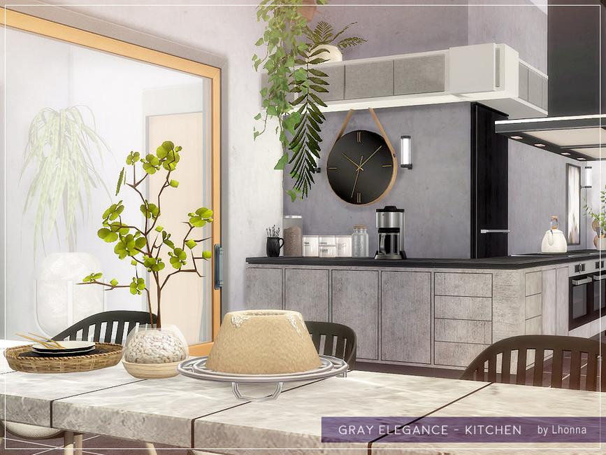 Кухня Gray Elegance - Kitchen Симс 4 (картинка 4)