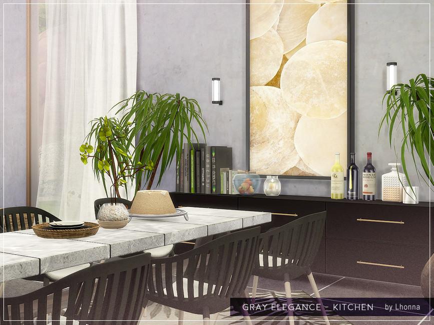 Кухня Gray Elegance - Kitchen Симс 4 (картинка 5)