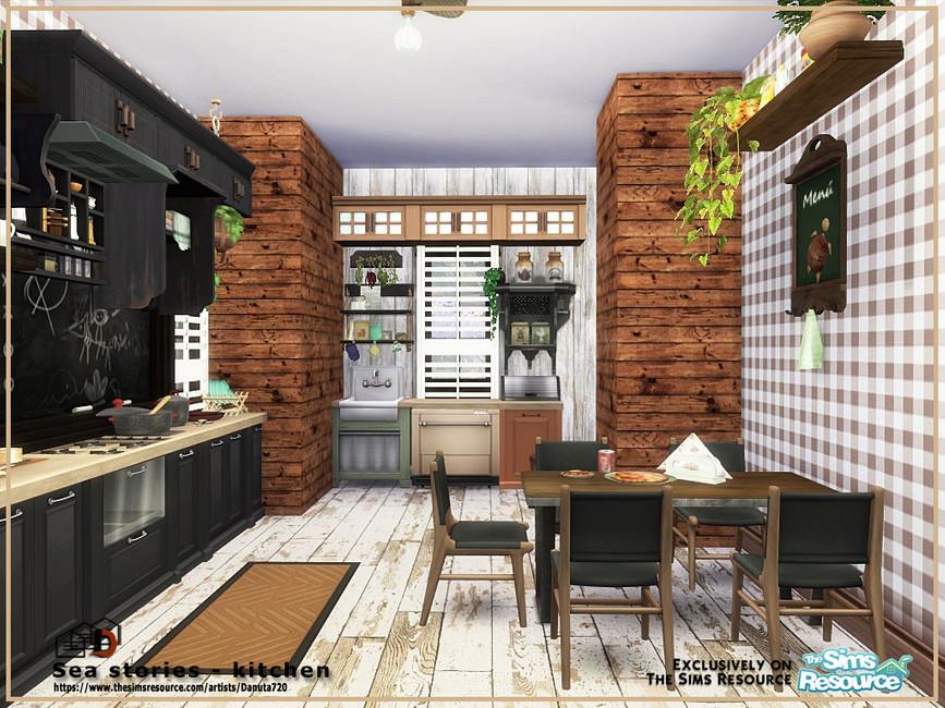 Кухня Sea Stories - Kitchen Симс 4