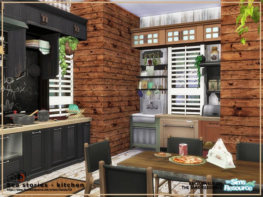 Кухня Sea Stories - Kitchen Симс 4 (картинка 2)