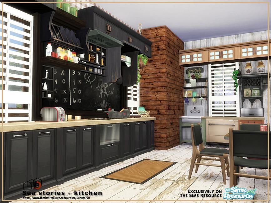 Кухня Sea Stories - Kitchen Симс 4 (картинка 3)