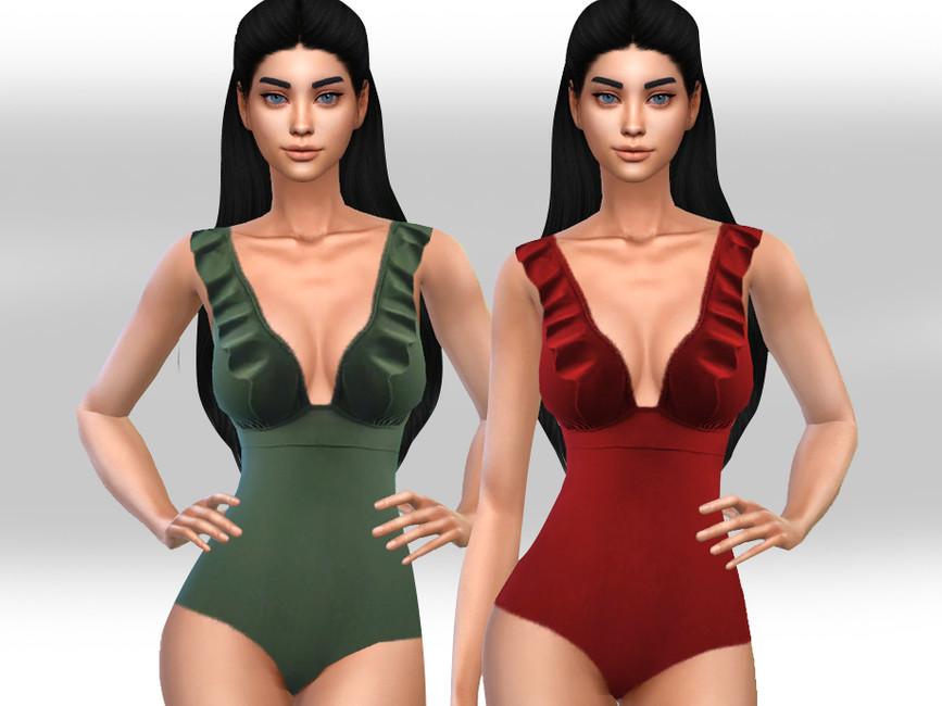 Купальник Ruffle Swimsuit Симс 4