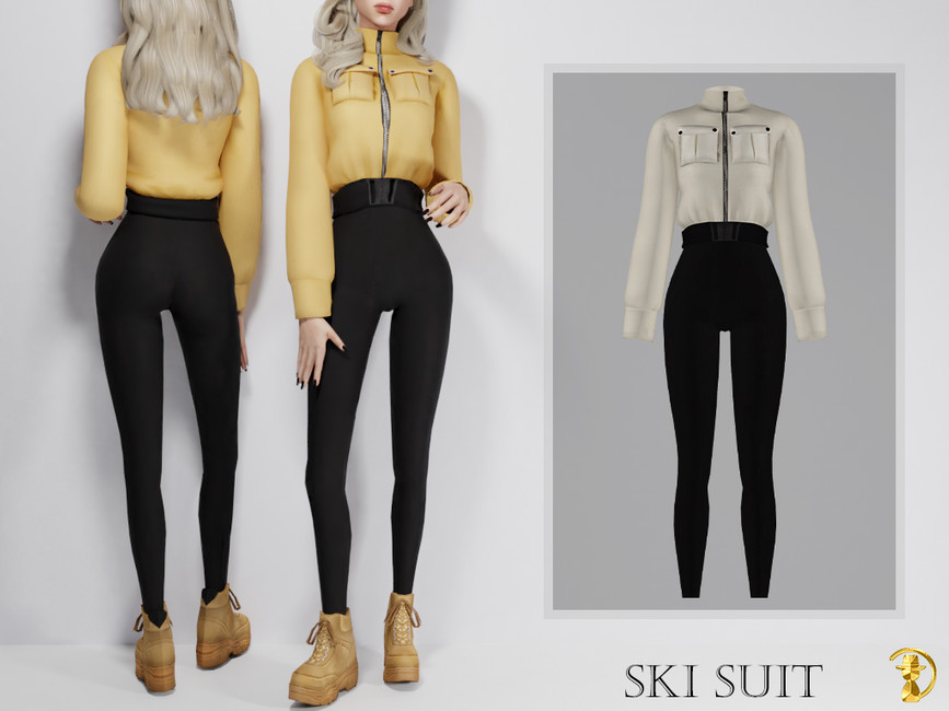 Лыжный костюм Симс 4