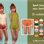 Мини шорты для детей Симс 4