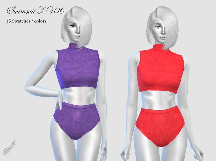 Моды купальники для девушек Симс 4