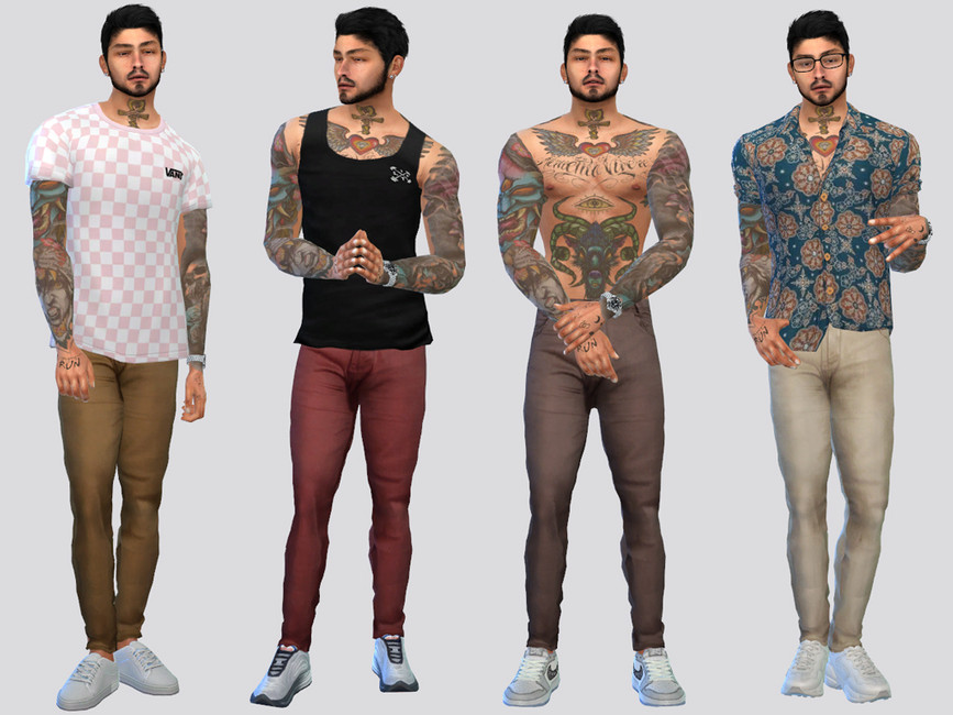 Моды мужские брюки Симс 4
